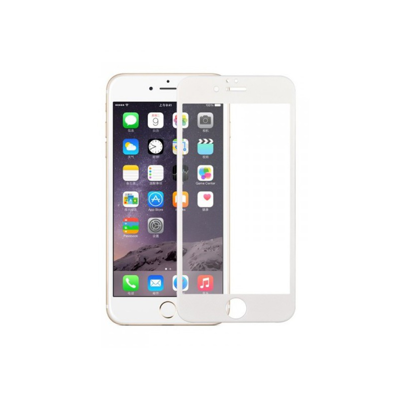 Ecran verre tremp contour couleur apple iphone 6 et 6s - Ecran verre trempe ...