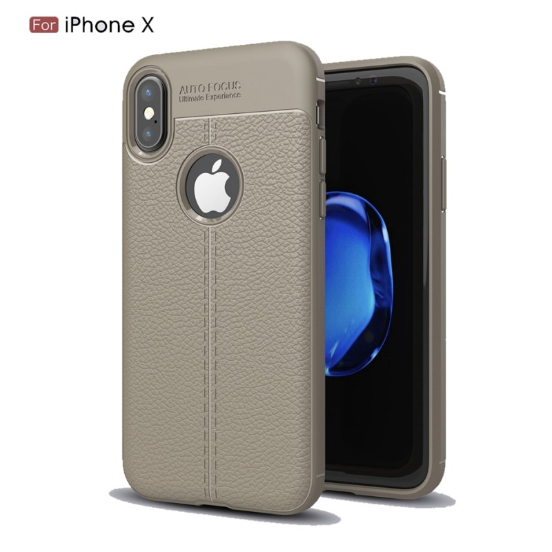 coque de protection effet cuir pour iphone x. Black Bedroom Furniture Sets. Home Design Ideas