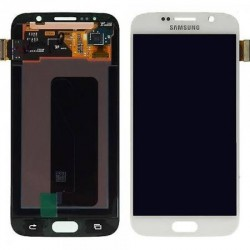 "Ecran complet LCD + vitre tactile - Samsung Galaxy S6 SM-G920F - Blanc ""SERVICE PACK"""