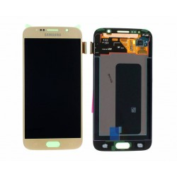 "Ecran complet LCD + vitre tactile - Samsung Galaxy S6 SM-G920F - Or ""SERVICE PACK"""