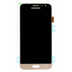"Ecran complet LCD + vitre tactile - Samsung Galaxy J3 (2016) (SM-J320F) - Or ""SERVICE PACK"""