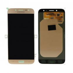 "Ecran complet LCD + vitre tactile - Samsung Galaxy J7 (2017) SM-J730F - Or ""SERVICE PACK"""