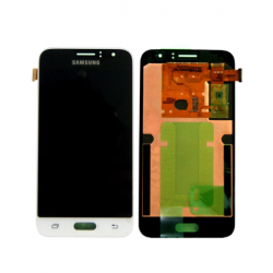 "Ecran complet LCD + vitre tactile - Samsung Galaxy J1 (2016) SM-J120F - Blanc ""SERVICE PACK"""
