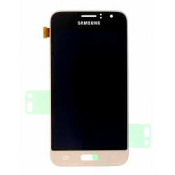 "Ecran complet LCD + vitre tactile - Samsung Galaxy J1 (2016) SM-J120F - Or ""SERVICE PACK"""