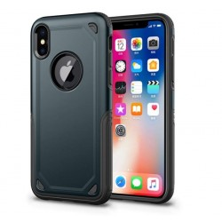 Coque hybride antichoc iPhone XR Bleu marine