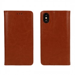 Housse portefeuille BOOK SPECIAL - IPHONE 11 PRO MAX Marron