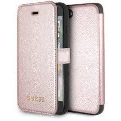 Housse portefeuille origine GUESS - Iridescent Collection -Iphone 7 / 8 Rose