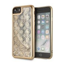 Coque origine GUESS - Paillette liquide 4G Peony - Iphone 7/8 Or