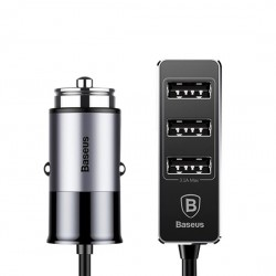 Chargeur voiture Baseus Enjoy Together Chargeur rapide 4xUsb (CCTON-0G) gris