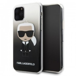 Coque Origine KARL LAGERFELD - Iconic Gradient - Iphone 11 Pro Max Noir