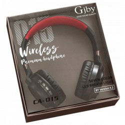 Casque GJBY sans fil bluetooth rouge CA-O15
