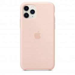 Coque silicone original Apple iPhone 11 Pro - Rose clair