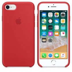 Coque Silicone origine Apple iPhone 7/8/SE Rouge
