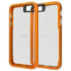 Coque iPhone 6/6s Plus GEAR4 - Transparente Contour orange